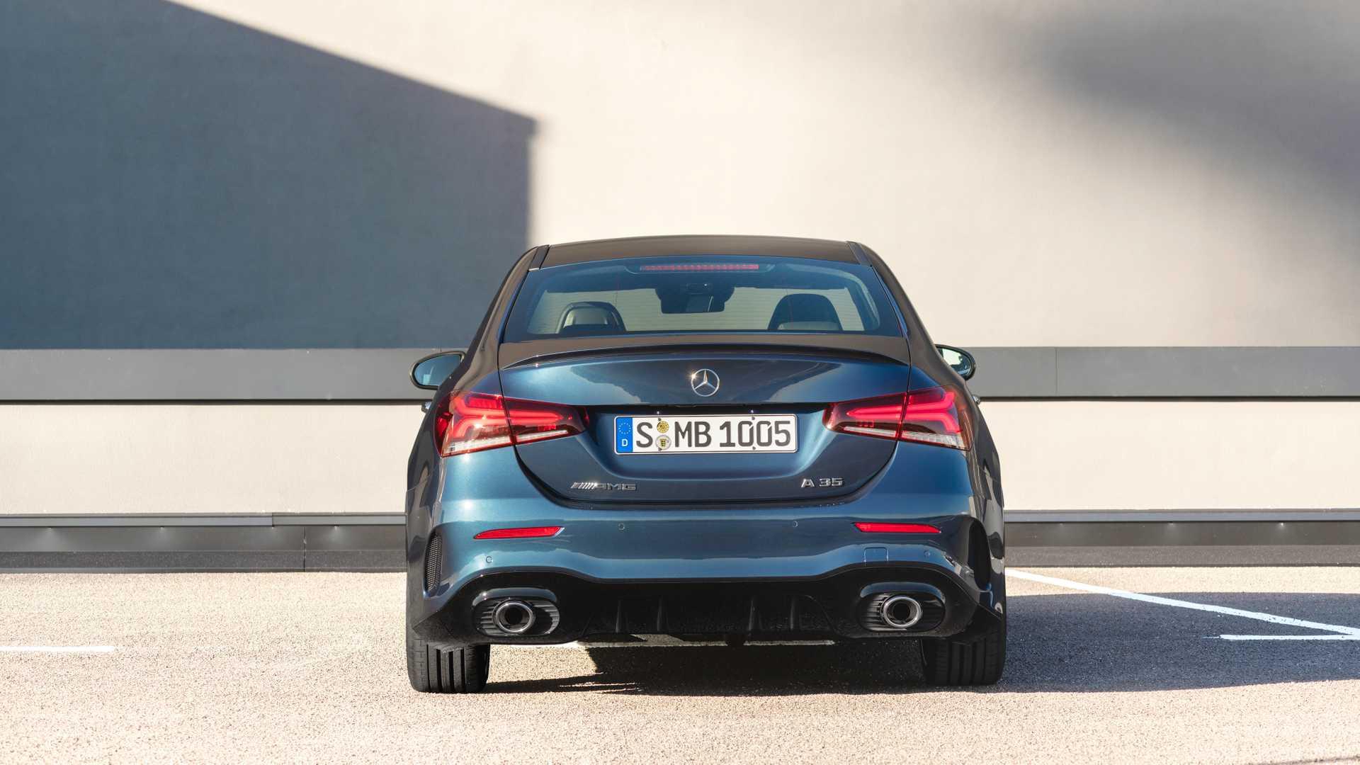 2020 Mercedes-AMG A 35 Sedan Rear Wallpaper (11)