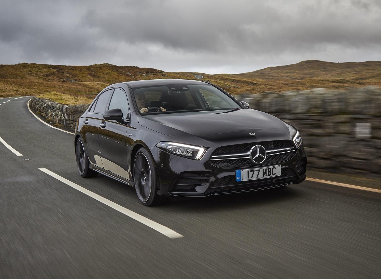 2020 Mercedes-AMG A 35 Sedan (UK-Spec) Front Three-Quarter Wallpapers (1)