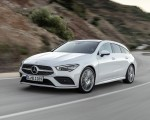 2020 Mercedes-Benz CLA Shooting Brake AMG-Line (Color: Digital White) Front Three-Quarter Wallpaper 150x120 (1)