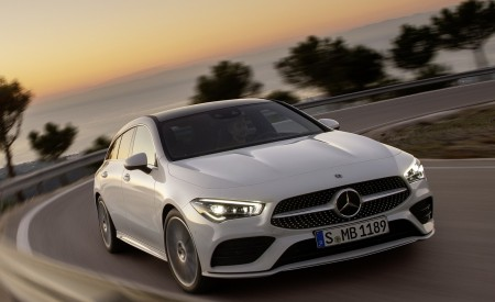 2020 Mercedes-Benz CLA Shooting Brake AMG-Line (Color: Digital White) Front Wallpapers 450x275 (62)