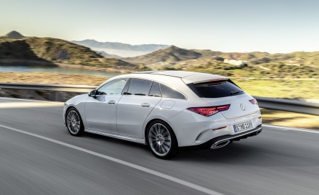 2020 Mercedes-Benz CLA Shooting Brake AMG-Line (Color: Digital White) Rear Three-Quarter Wallpapers 450x275 (63)