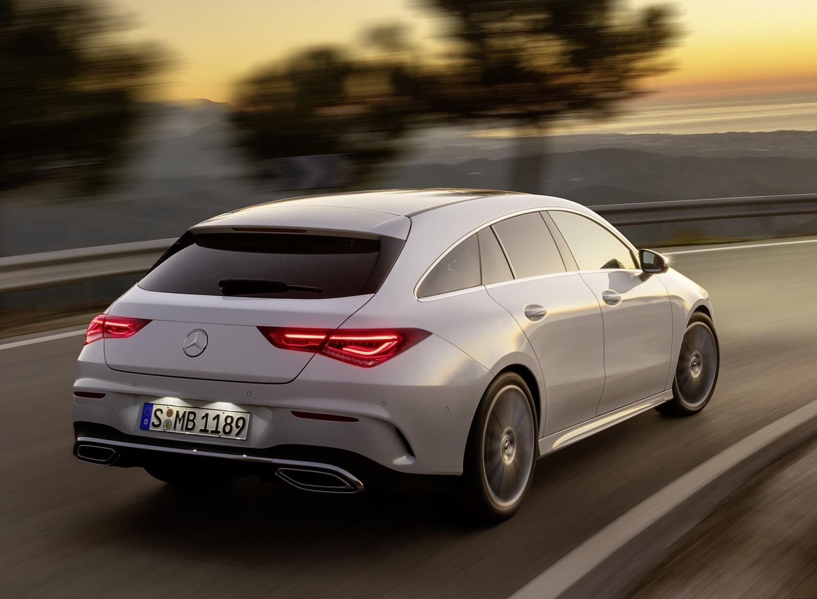 2020 Mercedes-Benz CLA Shooting Brake AMG-Line (Color: Digital White) Rear Three-Quarter Wallpapers (6)