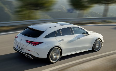 2020 Mercedes-Benz CLA Shooting Brake AMG-Line (Color: Digital White) Rear Three-Quarter Wallpapers 450x275 (65)