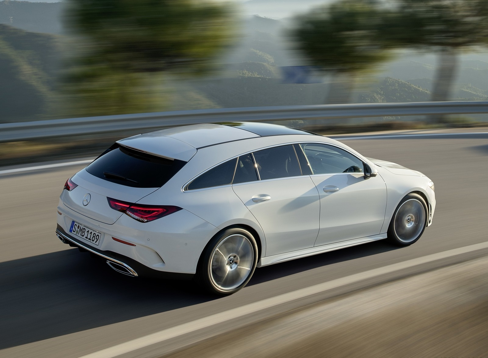 2020 Mercedes-Benz CLA Shooting Brake AMG-Line (Color: Digital White) Rear Three-Quarter Wallpaper (7)