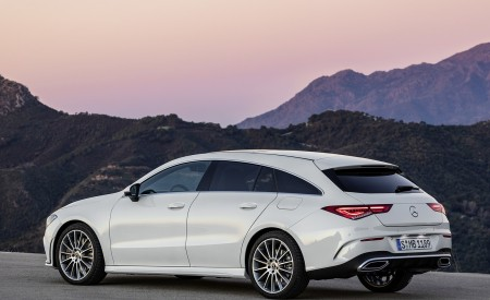 2020 Mercedes-Benz CLA Shooting Brake AMG-Line (Color: Digital White) Rear Three-Quarter Wallpapers 450x275 (69)