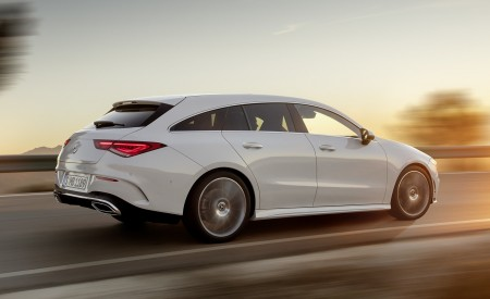2020 Mercedes-Benz CLA Shooting Brake AMG-Line (Color: Digital White) Rear Three-Quarter Wallpapers 450x275 (66)