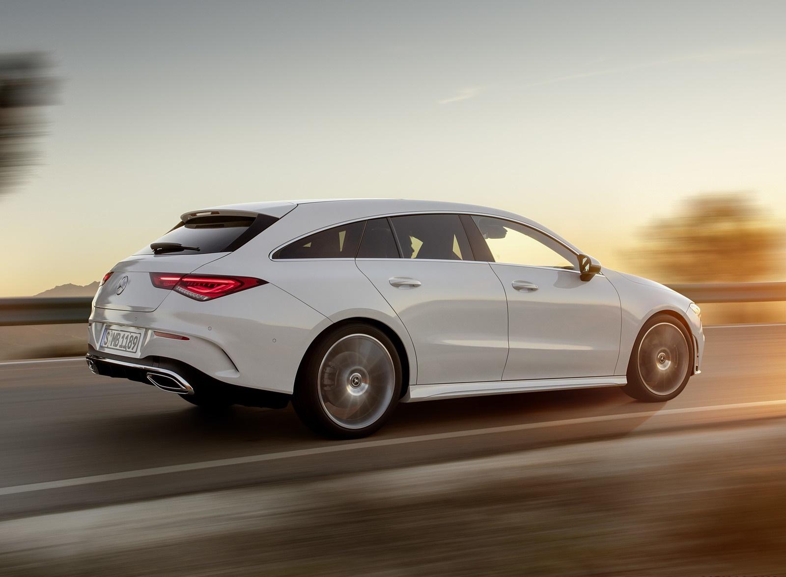 2020 Mercedes-Benz CLA Shooting Brake AMG-Line (Color: Digital White) Rear Three-Quarter Wallpapers (8)