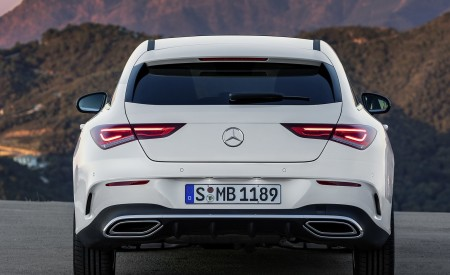 2020 Mercedes-Benz CLA Shooting Brake AMG-Line (Color: Digital White) Rear Wallpapers 450x275 (74)