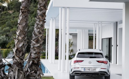 2020 Mercedes-Benz CLA Shooting Brake AMG-Line (Color: Digital White) Rear Wallpapers 450x275 (75)