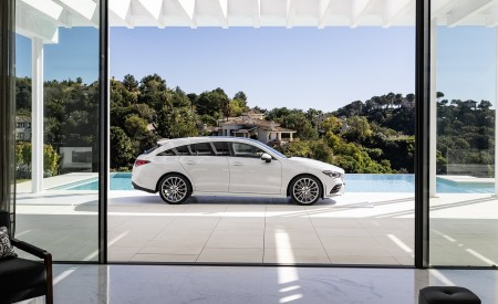 2020 Mercedes-Benz CLA Shooting Brake AMG-Line (Color: Digital White) Side Wallpapers 450x275 (76)