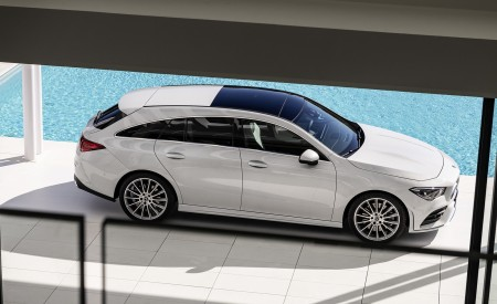 2020 Mercedes-Benz CLA Shooting Brake AMG-Line (Color: Digital White) Side Wallpapers 450x275 (77)