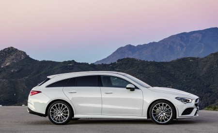 2020 Mercedes-Benz CLA Shooting Brake AMG-Line (Color: Digital White) Side Wallpapers 450x275 (68)
