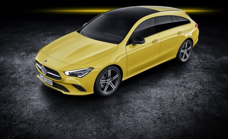 2020 Mercedes-Benz CLA Shooting Brake (Color: Sun Yellow) Front Three-Quarter Wallpapers 450x275 (84)