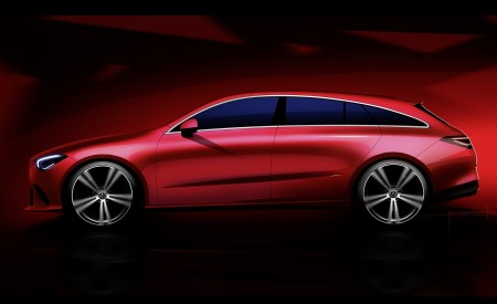 2020 Mercedes-Benz CLA Shooting Brake Design Sketch Wallpapers 450x275 (99)