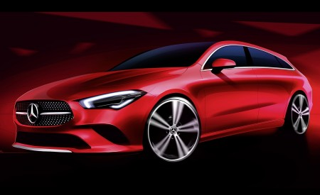 2020 Mercedes-Benz CLA Shooting Brake Design Sketch Wallpapers 450x275 (100)