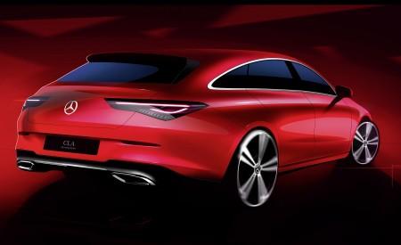 2020 Mercedes-Benz CLA Shooting Brake Design Sketch Wallpapers 450x275 (101)