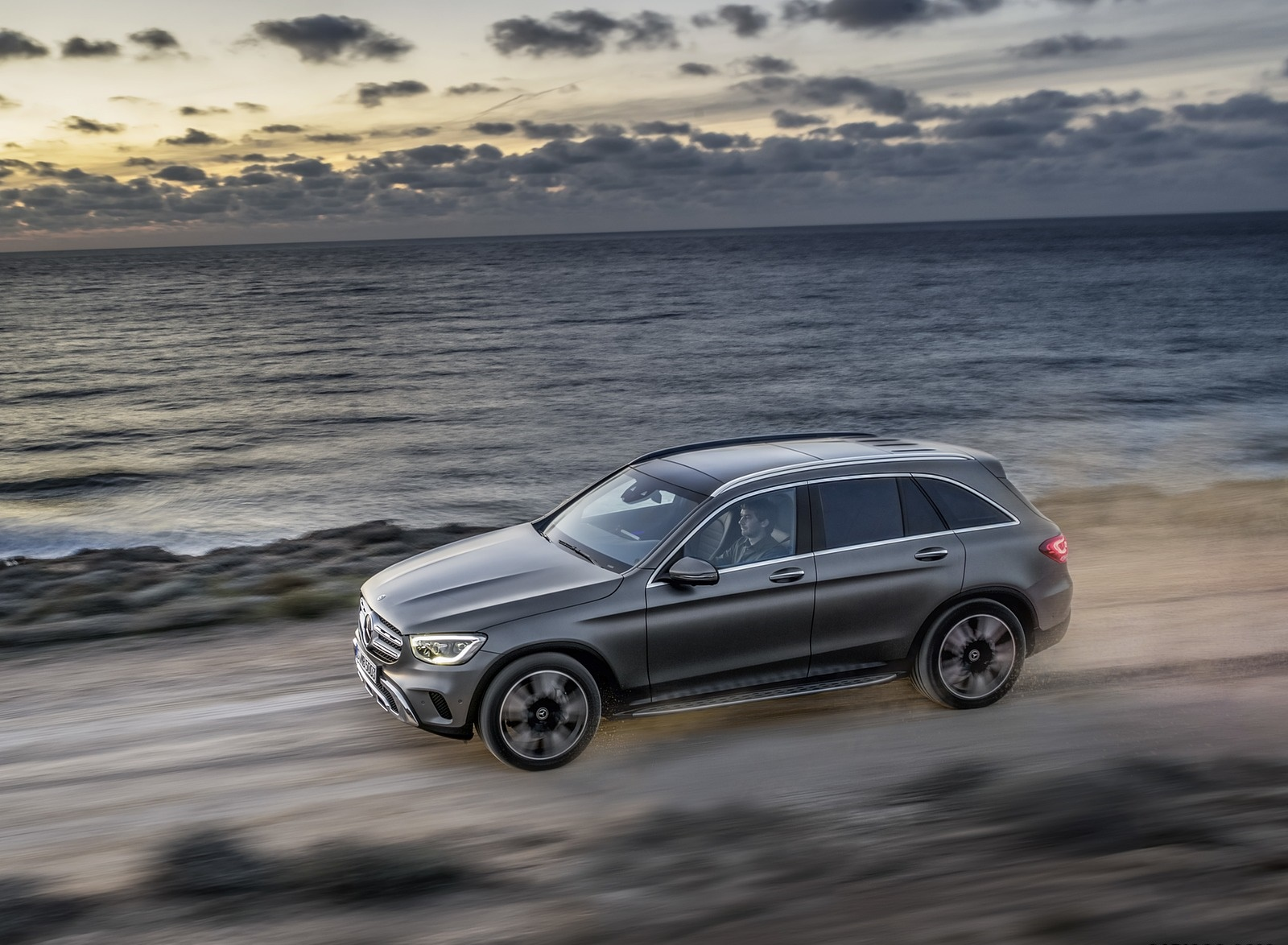 2020 Mercedes-Benz GLC (Color: Designo Selenite Grey Magno) Side Wallpapers (10)