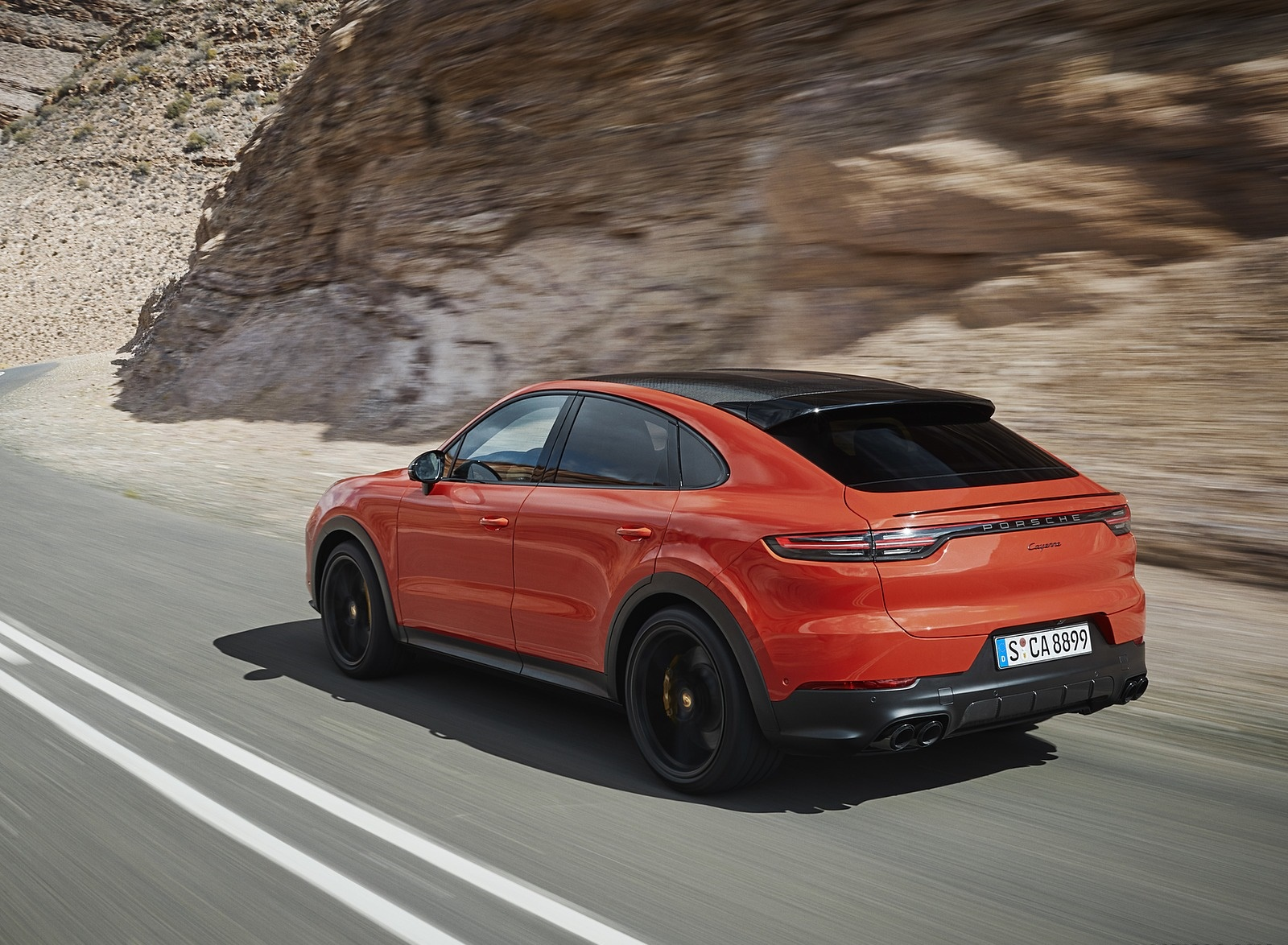 2020 Porsche Cayenne Coupe Rear Three-Quarter Wallpaper (3)
