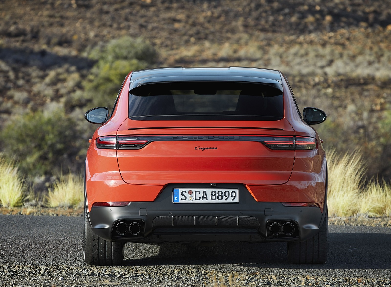 2020 Porsche Cayenne Coupe Rear Wallpaper (12)