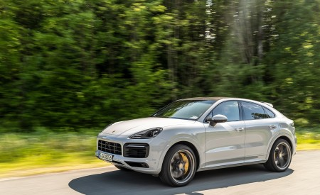 2020 Porsche Cayenne S Coupé (Color: Crayon) Front Three-Quarter Wallpapers 450x275 (41)