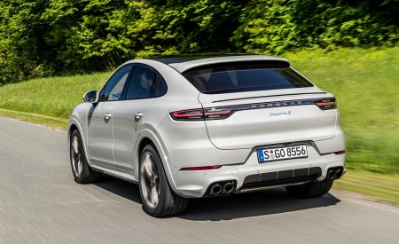 2020 Porsche Cayenne S Coupé (Color: Crayon) Rear Three-Quarter Wallpapers 450x275 (44)