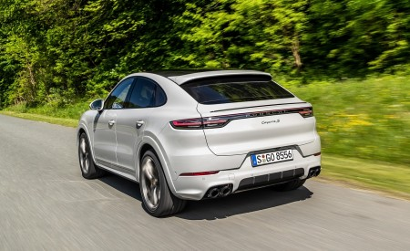 2020 Porsche Cayenne S Coupé (Color: Crayon) Rear Three-Quarter Wallpapers 450x275 (45)