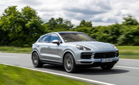 2020 Porsche Cayenne S Coupé (Color: Dolomite Silver Metallic) Front Three-Quarter Wallpapers 450x275 (91)