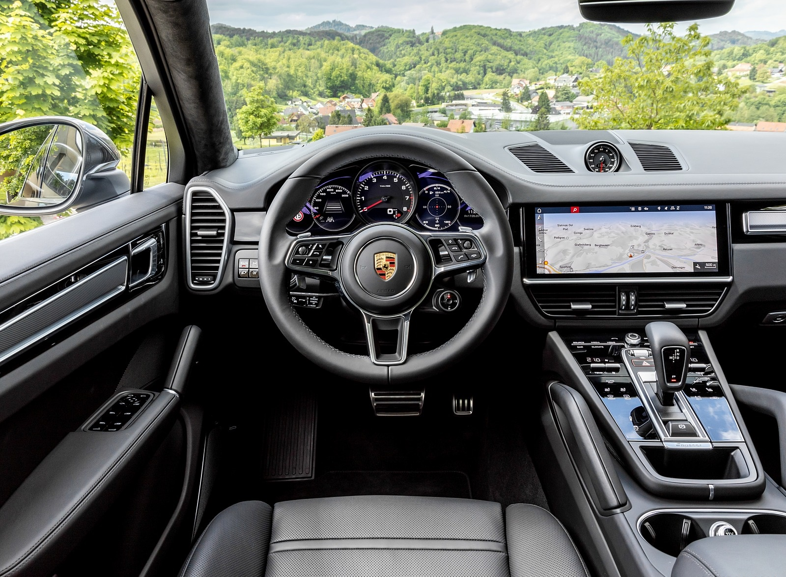 2020 Porsche Cayenne S Coupe Color Quarzite Grey Metallic Interior Cockpit Wallpapers 31 Newcarcars