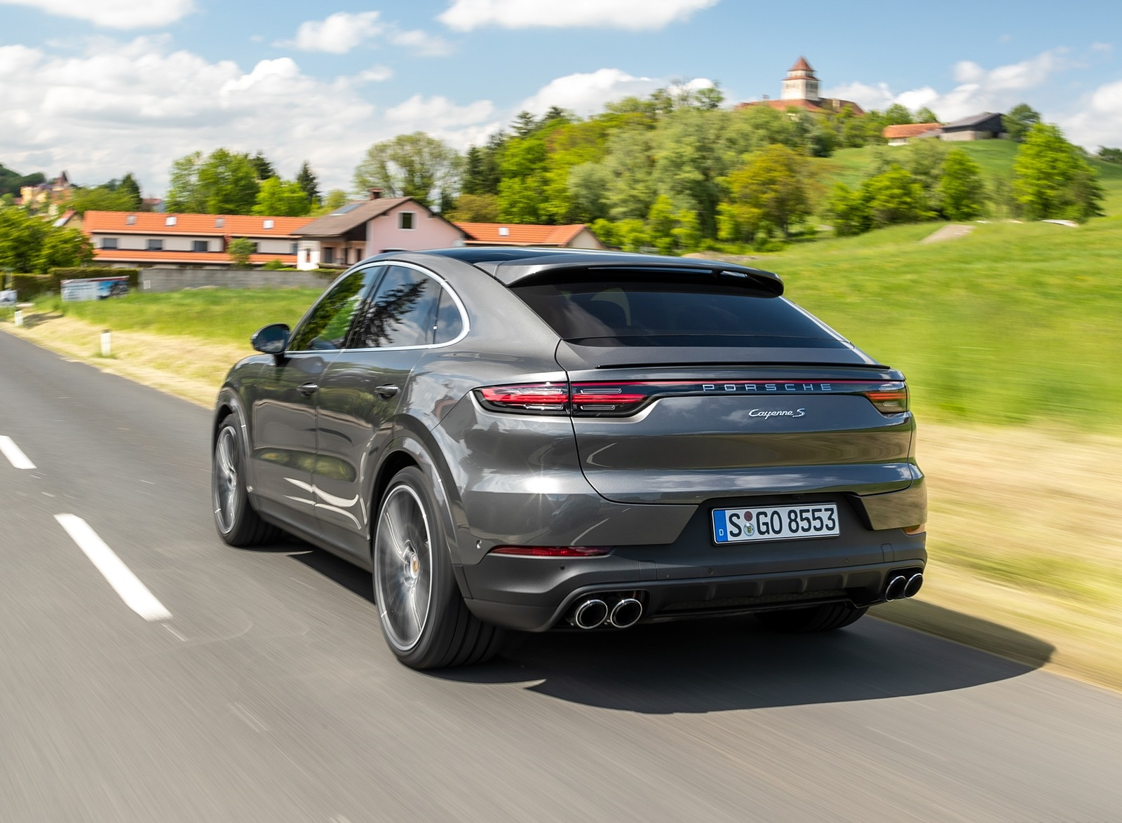 2020 Porsche Cayenne S Coupé (Color: Quarzite Grey Metallic) Rear Three-Quarter Wallpapers (9)