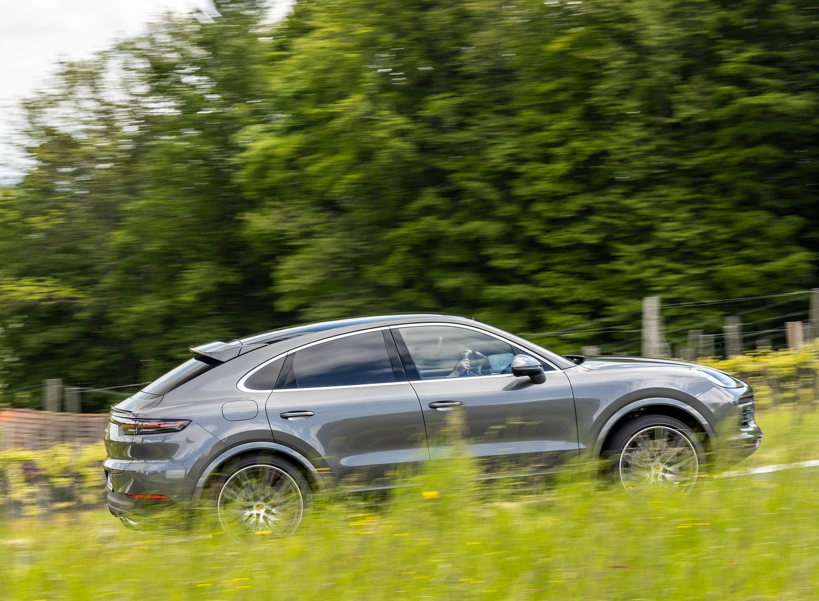 2020 Porsche Cayenne S Coupé (Color: Quarzite Grey Metallic) Side Wallpapers (11)