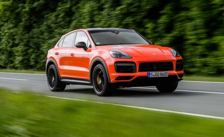 2020 Porsche Cayenne Turbo Coupe (Color: Lava Orange) Front Three-Quarter Wallpapers 450x275 (4)