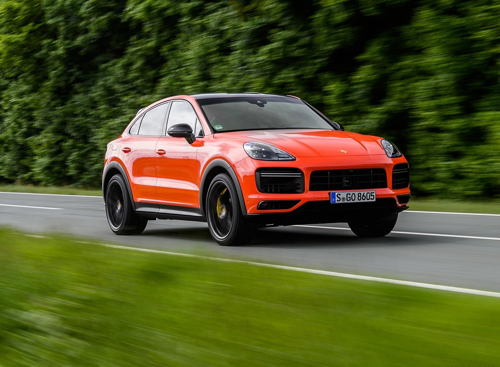 2020 Porsche Cayenne Turbo Coupe (Color: Lava Orange) Front Three-Quarter Wallpapers (4)