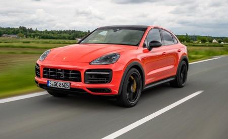2020 Porsche Cayenne Turbo Coupe (Color: Lava Orange) Front Three-Quarter Wallpaper 450x275 (24)