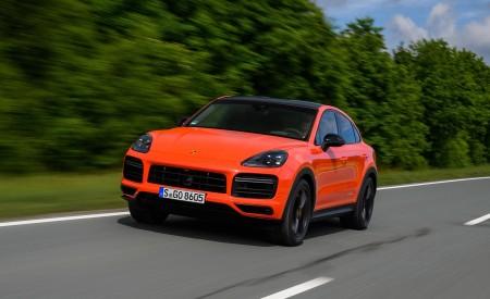2020 Porsche Cayenne Turbo Coupe (Color: Lava Orange) Front Three-Quarter Wallpapers 450x275 (12)