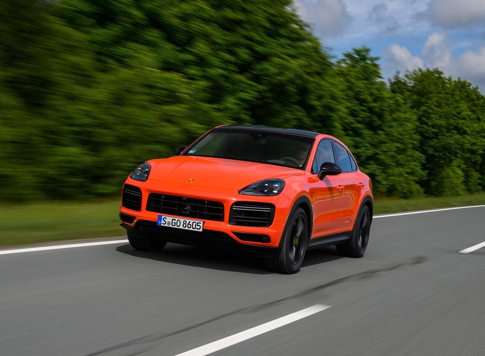 2020 Porsche Cayenne Turbo Coupe (Color: Lava Orange) Front Three-Quarter Wallpapers (12)
