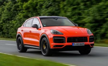 2020 Porsche Cayenne Turbo Coupe (Color: Lava Orange) Front Three-Quarter Wallpaper 450x275 (5)