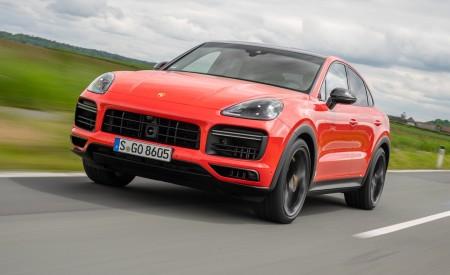 2020 Porsche Cayenne Turbo Coupe (Color: Lava Orange) Front Three-Quarter Wallpapers 450x275 (25)