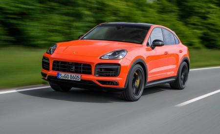 2020 Porsche Cayenne Turbo Coupe (Color: Lava Orange) Front Three-Quarter Wallpaper 450x275 (13)