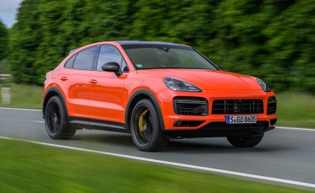 2020 Porsche Cayenne Turbo Coupe (Color: Lava Orange) Front Three-Quarter Wallpapers 450x275 (6)
