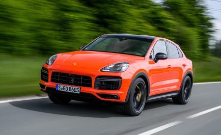 2020 Porsche Cayenne Turbo Coupe (Color: Lava Orange) Front Three-Quarter Wallpaper 450x275 (2)