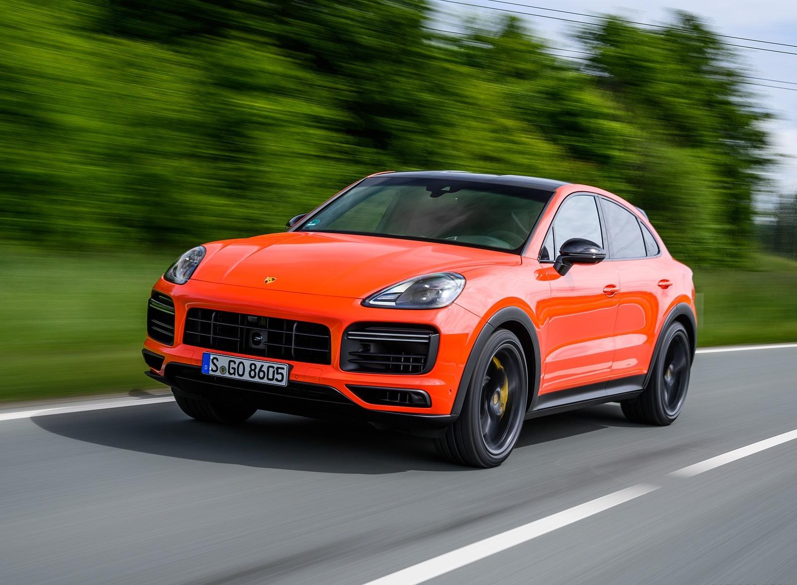 2020 Porsche Cayenne Turbo Coupe (Color: Lava Orange) Front Three-Quarter Wallpapers (2)