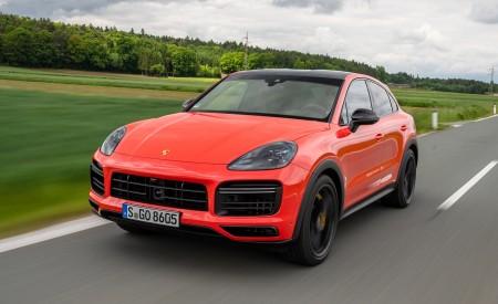 2020 Porsche Cayenne Turbo Coupe (Color: Lava Orange) Front Three-Quarter Wallpaper 450x275 (26)