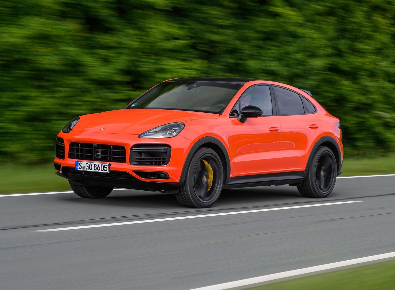 2020 Porsche Cayenne Turbo Coupe (Color: Lava Orange) Front Three-Quarter Wallpapers (7)