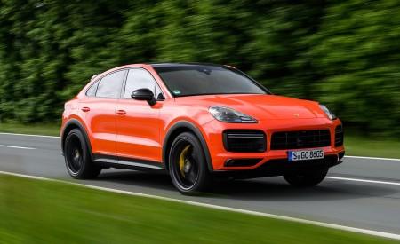 2020 Porsche Cayenne Turbo Coupe (Color: Lava Orange) Front Three-Quarter Wallpaper 450x275 (8)