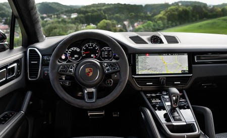 2020 Porsche Cayenne Turbo Coupe (Color: Lava Orange) Interior Cockpit Wallpaper 450x275 (49)