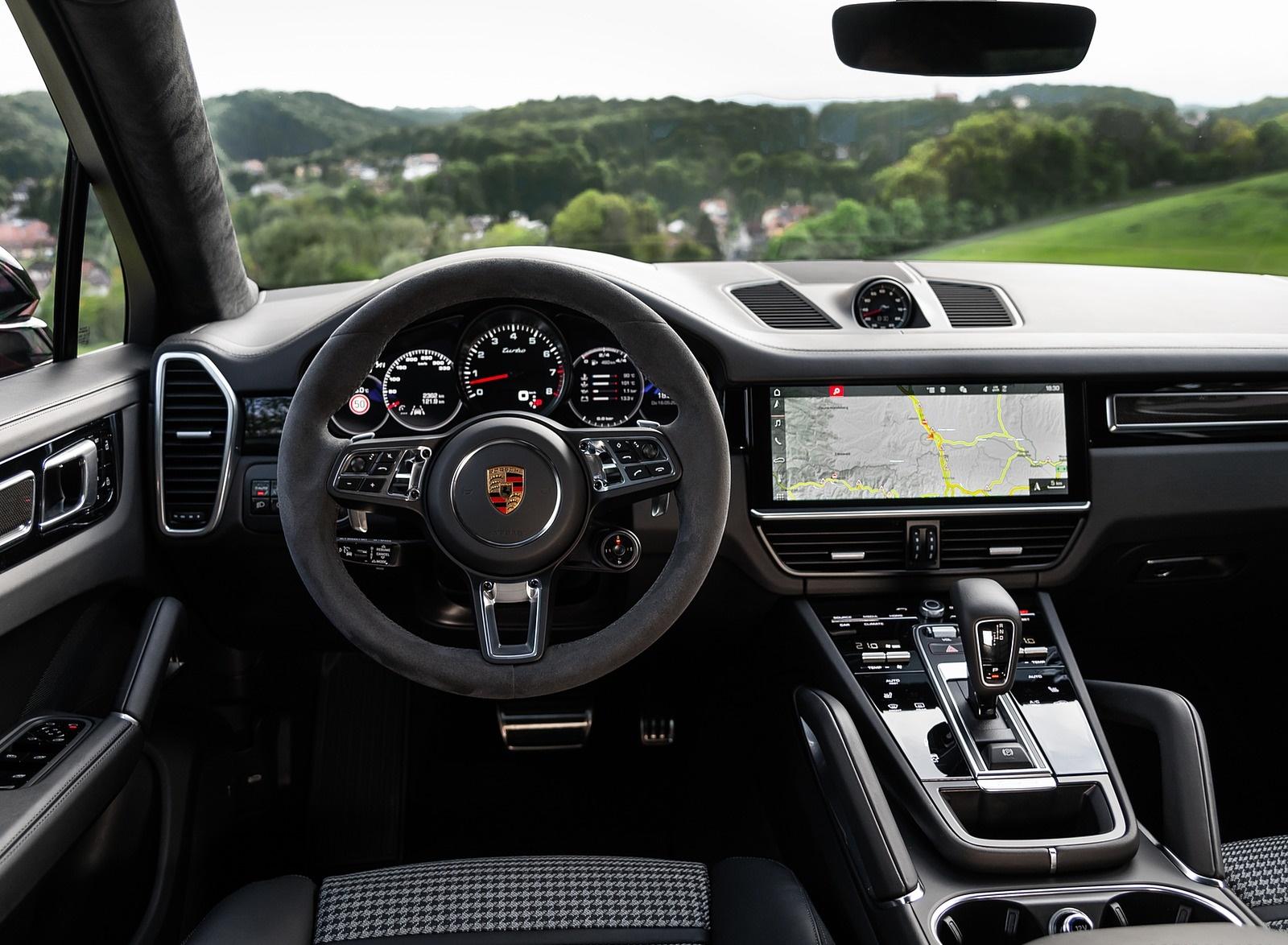 2020 Porsche Cayenne Turbo Coupe Color Lava Orange Interior Cockpit Wallpapers 49 Newcarcars