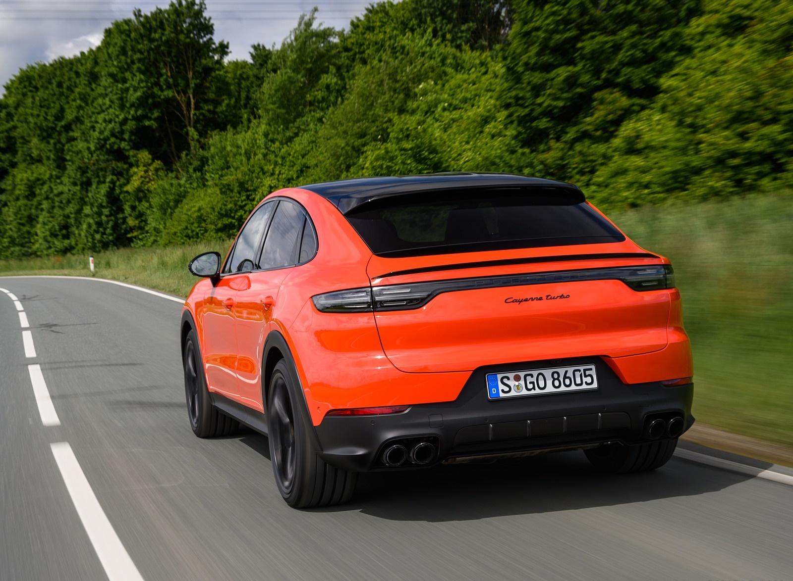 2020 Porsche Cayenne Turbo Coupe (Color: Lava Orange) Rear Three-Quarter Wallpapers (15)