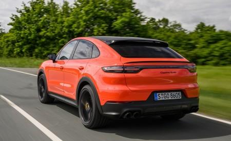 2020 Porsche Cayenne Turbo Coupe (Color: Lava Orange) Rear Three-Quarter Wallpaper 450x275 (9)