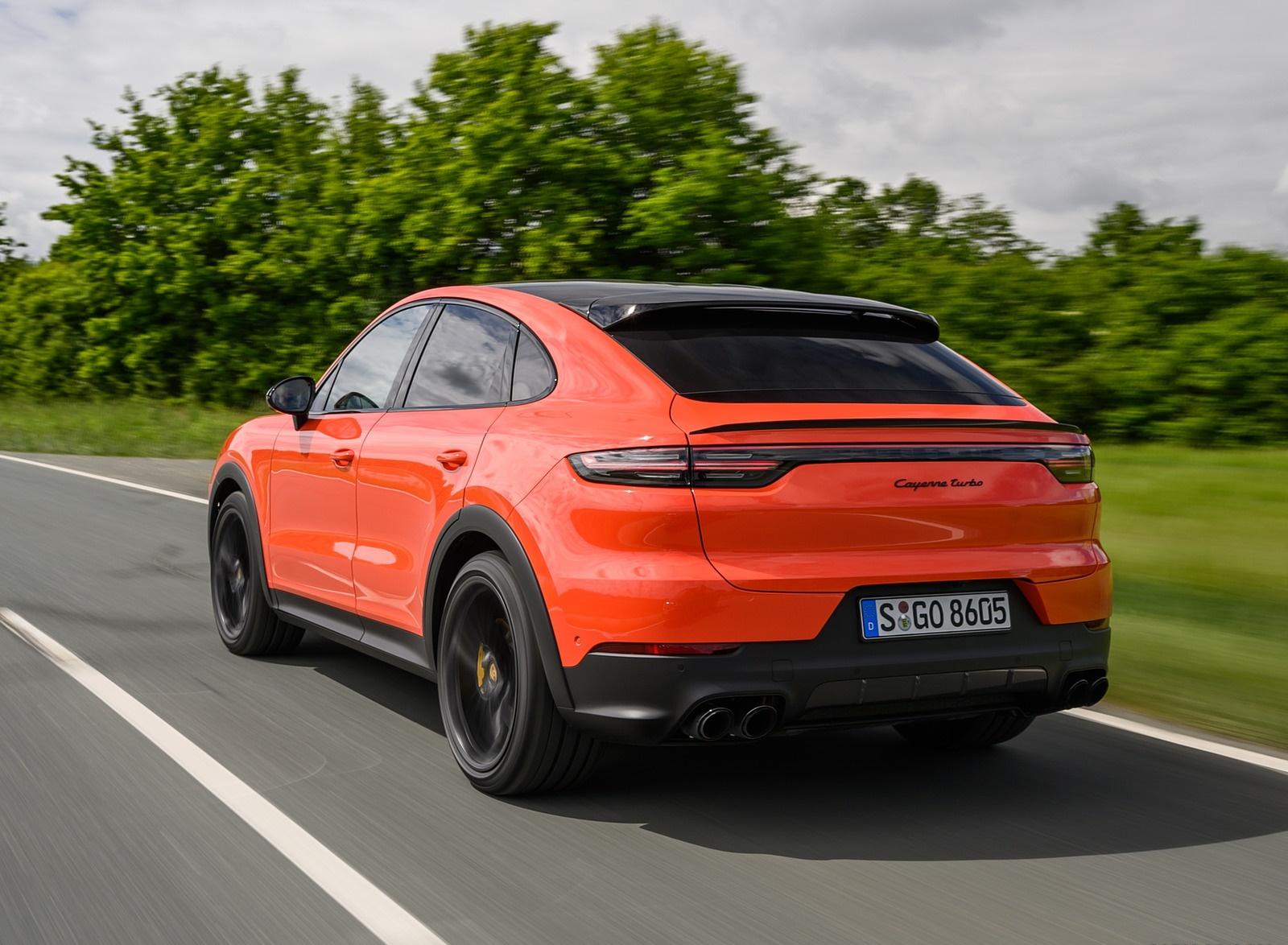 2020 Porsche Cayenne Turbo Coupe (Color: Lava Orange) Rear Three-Quarter Wallpapers (9)