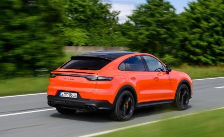 2020 Porsche Cayenne Turbo Coupe (Color: Lava Orange) Rear Three-Quarter Wallpaper 450x275 (16)